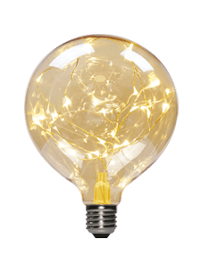 LEDpera Kúla skraut  G95  3W E27 Gold